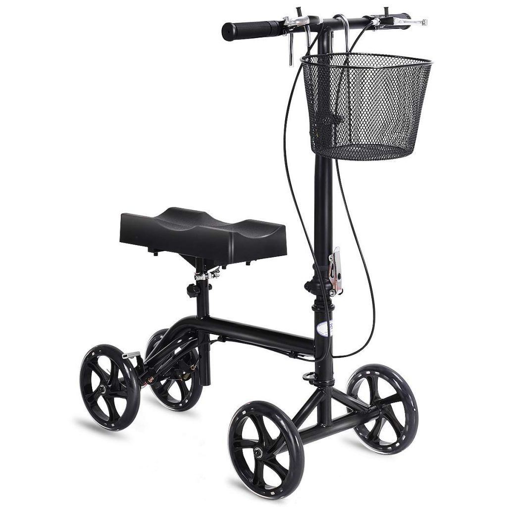 Goplus Steerable Knee Walker Folding Knee Scooter